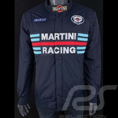 Sparco Martini Racing Team Jacket Bomber design navy blue - men 01281MRBM