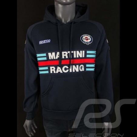 Sweatshirt Sparco Martini Racing hoodie à capuche bleu marine- homme 01279MRBM