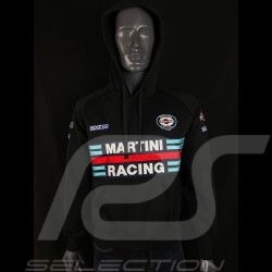 Sweatshirt Sparco Martini Racing hoodie à capuche noir - homme 01279MRNR