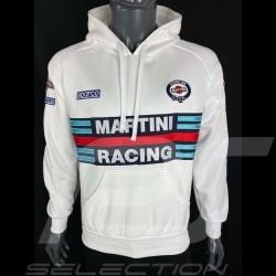 Sweatshirt Sparco Martini Racing hoodie à capuche blanc - homme 01279MRBI