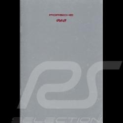 Porsche Brochure 968 08/1991 in german WVK12701092