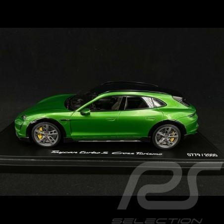 Porsche Taycan Turbo S Cross Turismo 2021 vert Mamba métallisé 1/18 Minichamps WAP0217830M001