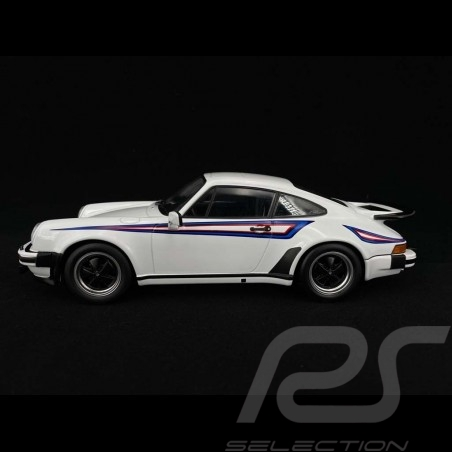 Porsche 911 Turbo 3.0 type 930 1976 white Martini 1/18 KK Scale KKDC180572
