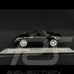 Porsche 718 Spyder type 982 2020 Noir 1/43 Minichamps 410067701