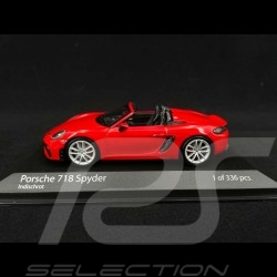 Porsche 718 Boxster Spyder type 982 2020 guards red 1/43 Minichamps 410067702