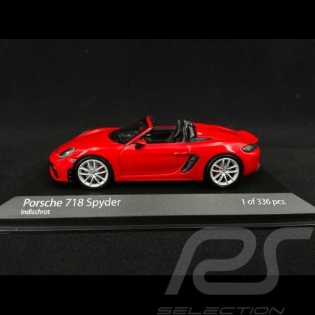Porsche 718 Boxster Spyder type 982 2020 rouge indien 1/43 Minichamps 410067702