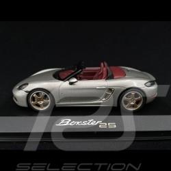 Porsche Boxter Edition 25 ans type 982 2021 Gris Argent GT 1/43 Minichamps WAP0202020MM7Z