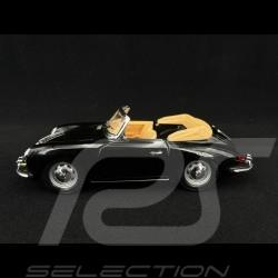 Porsche 356 B Cabriolet 1961 noire 1/24 Burago 22078
