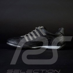 Chaussure Shoes Schuhe Sport sneaker / basket Style pilote Noir Asphalte - homme
