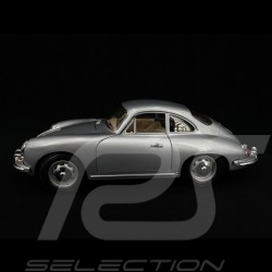 Porsche 356 B Cabriolet 1961 silver 1/18 Burago 12026