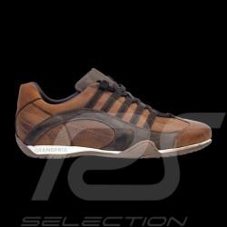 Sneaker / Basket Schuhe Rennfahrer Design Cognac Braun - Herren