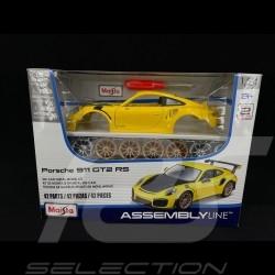 Porsche 911 GT2 RS type 991 phase II 2018 jaune / carbone kit à monter 1/24 Maisto 39523