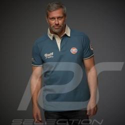 Gulf Le Mans victory Vintage Polo shirt Petrol blue - men