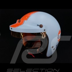 Casque Gulf Vintage Racing Oil Company bleu / orange