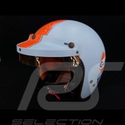 Gulf Helmet Vintage Racing Oil Company blue / orange