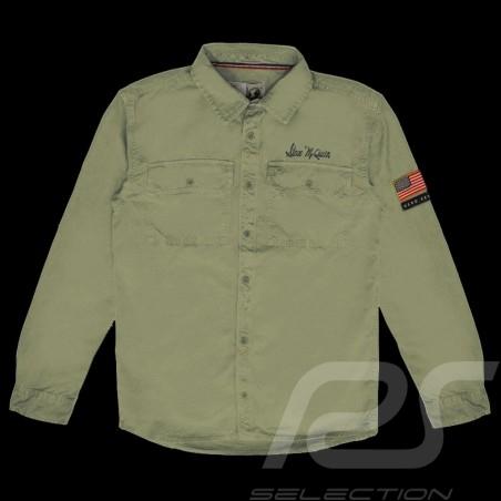 Steve McQueen shirt US army Khaki green - Men