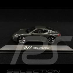 Porsche 911 type 991 gris ardoise 1/43 Welly MAP01999113 50 ans Anniversaire 50 ans anniversary 50 Jahre Jubiläum