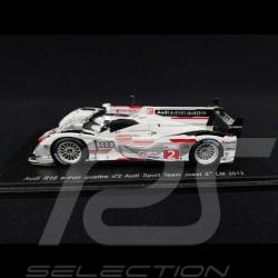 Audi R18 e-Tron Quattro n° 2 Audi Sport Team Joest 2ème Le Mans 2012 1/43 Spark S3701