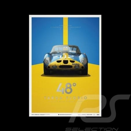 Poster Ferrari 250 GTO Blue Targa Florio 1964 Collector's Edition