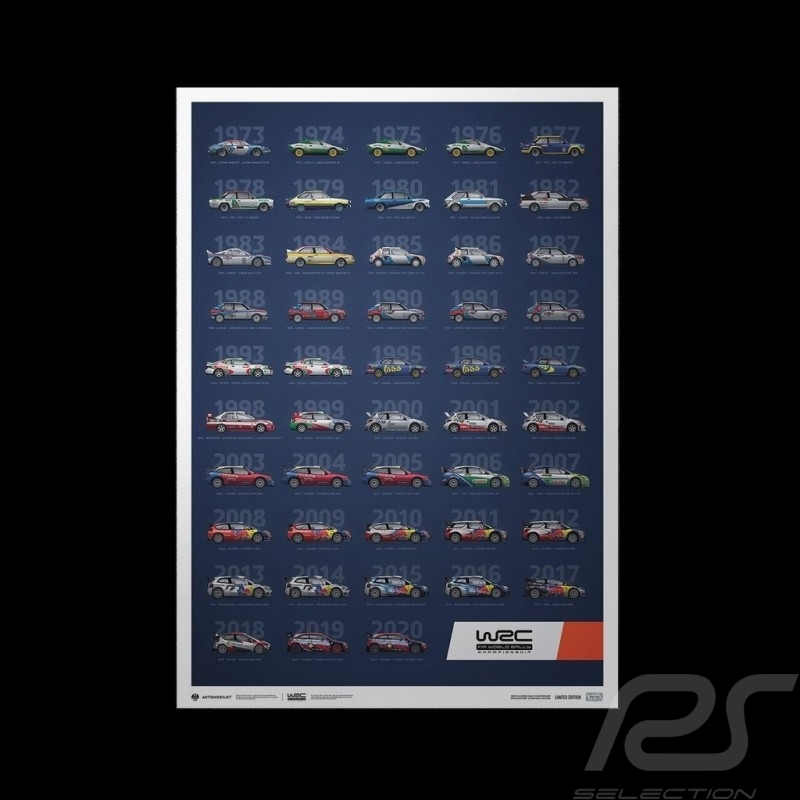 Poster WRC Constructors' Champions 1973-2020 48th Anniversary Limited Edition
