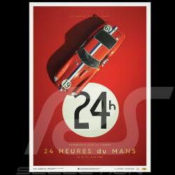 Poster Ferrari 250 GTO Red 24H Le Mans 1962 Collector's Edition