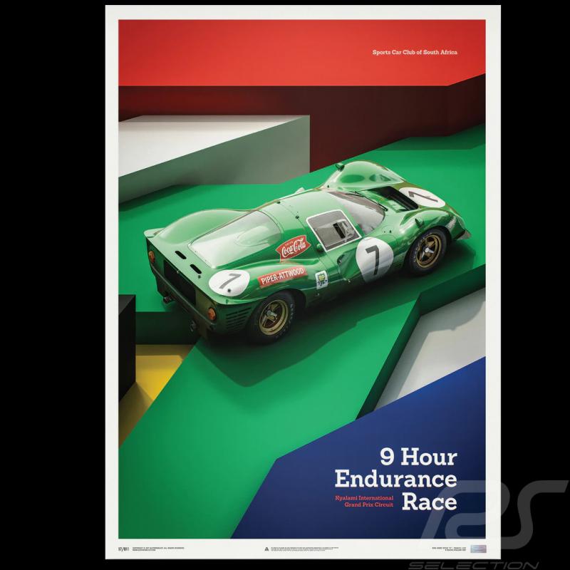 Poster Ferrari 412P Green Kyalami 9 hour 1967 Limited Edition