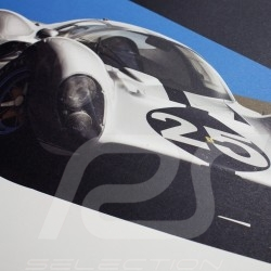 Poster Ferrari 412P Red 24 hours of Daytona 1967 Limited Edition