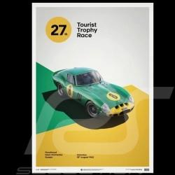 Ferrari Poster 250 GTO Grün Goodwood 1962 Limitierte Auflage