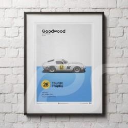 Poster Ferrari 250 GTO Red Goodwood TT 1963 Collector's Edition