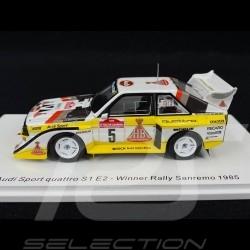 Audi Sport Quattro S1 Evo 2 n° 5 Vainqueur Rallye San Remo 1985 1/43 Spark S5192