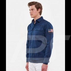 Chemise Steve McQueen US army Bleu marine - homme Shirt Hemd