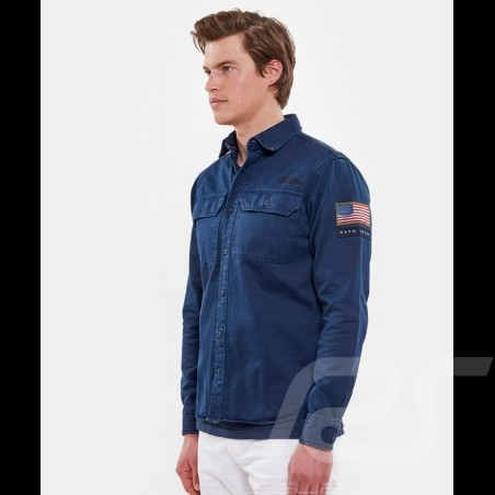 Steve McQueen shirt US army Navy blue - Men