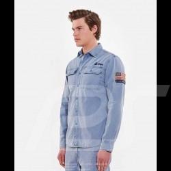 Chemise Steve McQueen US army Gris bleu - homme