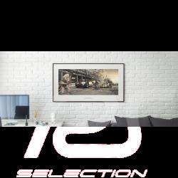 Luxury Frame Artwork 2 Mercedes Benz W154 50 x 24 cm