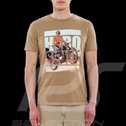 Steve McQueen T-shirt Triumph n° 955 motorbike Sand beige - Men