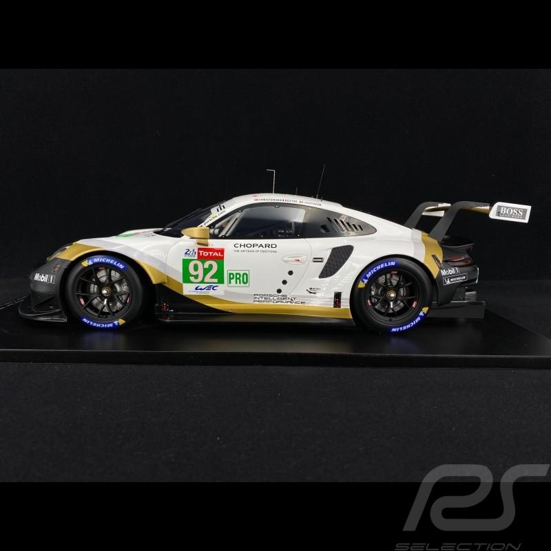 Porsche 911 RSR  Type 991 N° 92 24H Le Mans 2019 1/12 Spark 12S018