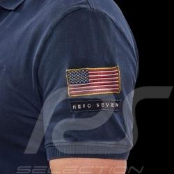 Steve McQueen Polo shirt US Star & Stripes Navy blue - Men