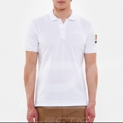 Polo Steve McQueen US Star & Stripes Blanc - homme