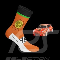 Jägermeister Socken Orange / Grün / Schwarz - Unisex - Größe 41/46