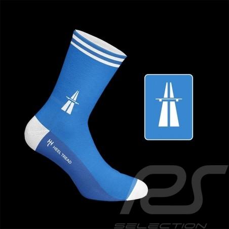 Autobahn socks blue / white - unisex - Size 41/46