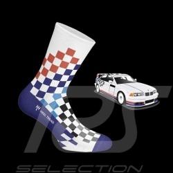 Chaussettes BMW M3 FINA damier multicolore - mixte - Pointure 41/46