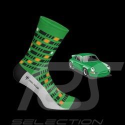 Chaussettes Porsche 911 Carrera RS 2.7 vert / noir / orange - mixte - Pointure 41/46
