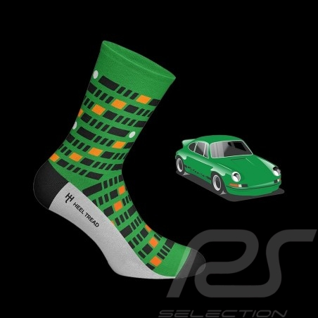 Porsche 911 Carrera RS 2.7 socks green / black / orange - unisex - Size 41/46