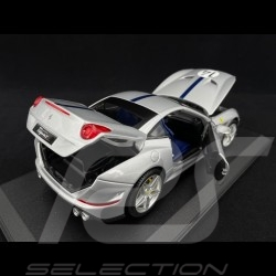 "Ferrari California T n° 14 ""The Hot Rod"" 70th anniversary silver / blue stripe 1/18 Bburago 76103"
