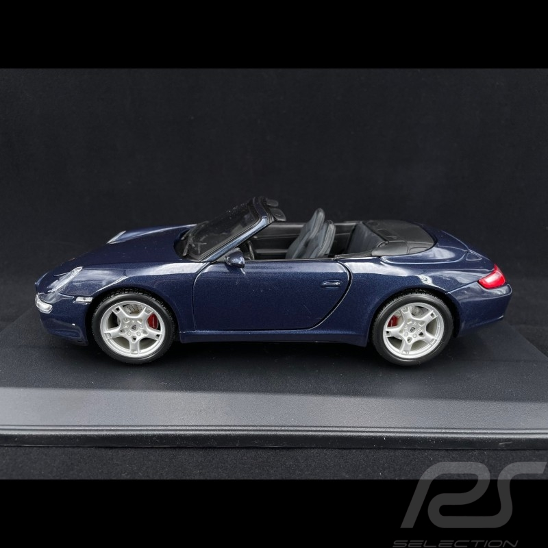 Porsche 997 Carrera S Cabriolet bleu 1/18 Maisto 31126