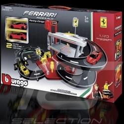 Garage & Parking Ferrari avec 2 voitures 1/43 Bburago 31204