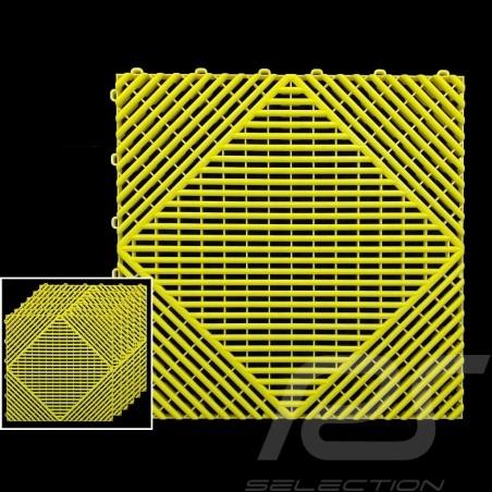 Garage floor tiles Yellow RAL1016 Quality-Price - 15 years warranty - Set of 6 tiles of 40 x 40 cm