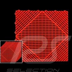 Garage floor tiles Red RAL3020 Quality-Price - 15 years warranty - Set of 6 tiles of 40 x 40 cm