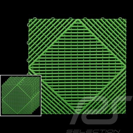 Garage floor tiles Green RAL6001 Quality-Price - 15 years warranty - Set of 6 tiles of 40 x 40 cm