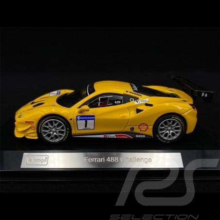 Ferrari 488 Challenge N° 1 2017 Yellow 1/43 Bburago 36306